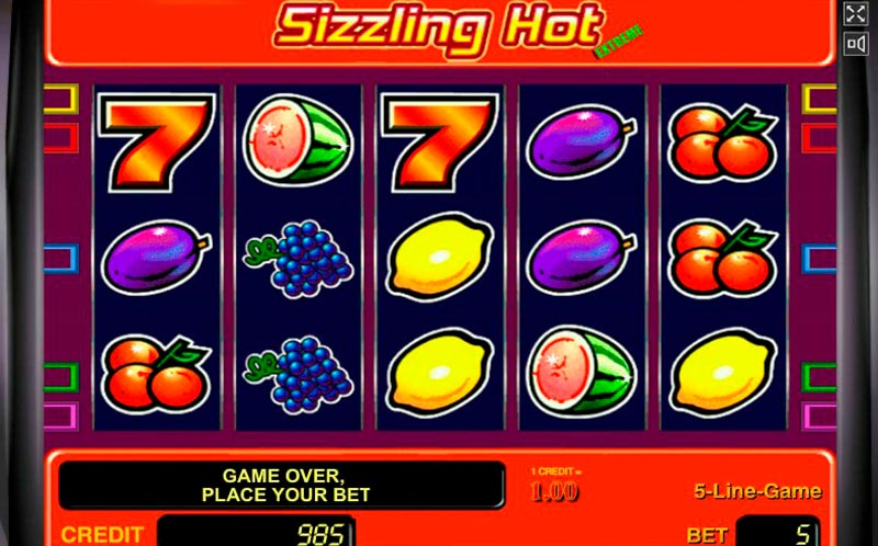 Sizzling Hot 20 Euro